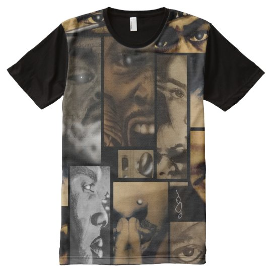 3rd Eye Vision Drawing Collage All-Over-Print T-Shirt