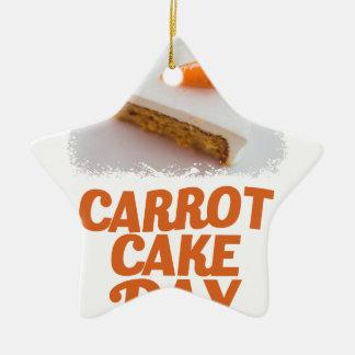 3rd February - Carrot Cake Day - Appreciation Day Ceramic Star Ornament