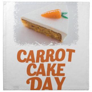 3rd February - Carrot Cake Day - Appreciation Day Napkin