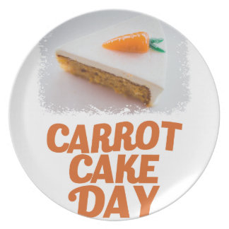 3rd February - Carrot Cake Day - Appreciation Day Plate