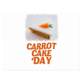 3rd February - Carrot Cake Day - Appreciation Day Postcard