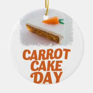 3rd February - Carrot Cake Day - Appreciation Day Round Ceramic Ornament