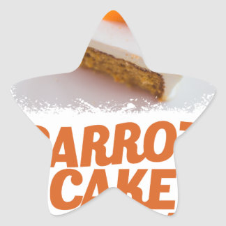 3rd February - Carrot Cake Day - Appreciation Day Star Sticker