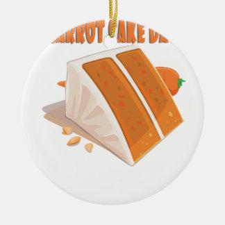 3rd February - Carrot Cake Day Ceramic Ornament