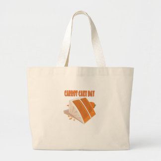 3rd February - Carrot Cake Day Large Tote Bag