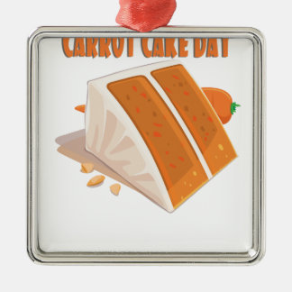 3rd February - Carrot Cake Day Metal Ornament