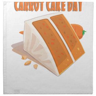 3rd February - Carrot Cake Day Napkin