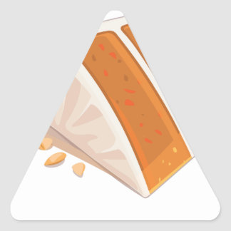 3rd February - Carrot Cake Day Triangle Sticker