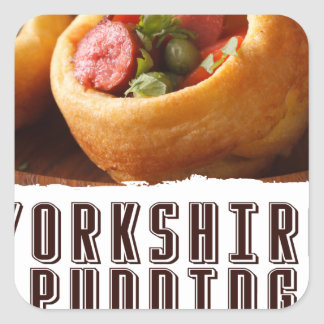 3rd February - Yorkshire Pudding Day Square Sticker