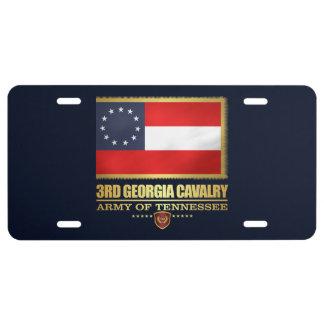 3rd Georgia Cavalry (F10) License Plate