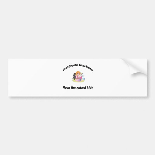 3rd grade and kids bumper stickers
