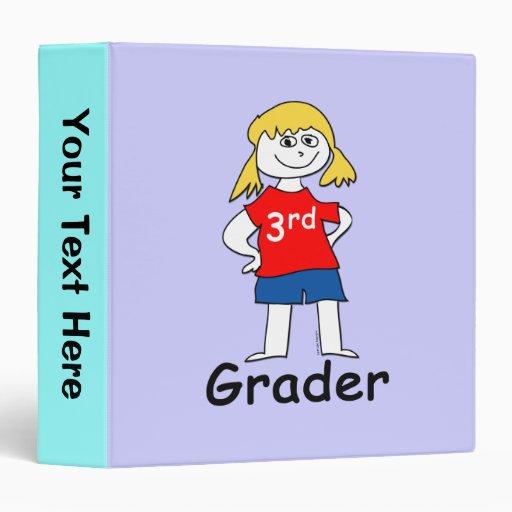 3rd Grade Girl 3 Ring Binder