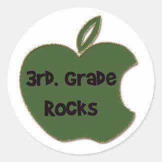 3rd. Grade Rocks Classic Round Sticker