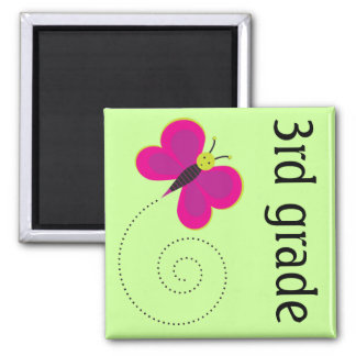 3rd Grade Teacher Butterfly Magnet Keepsake