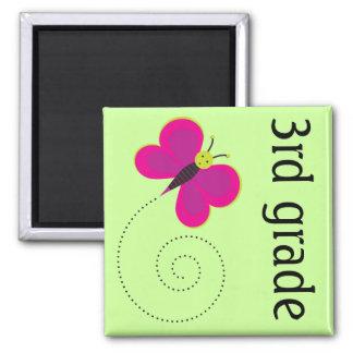 3rd Grade Teacher Butterfly Magnet Keepsake