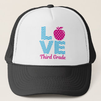 3rd Grade Teacher Gift T-Shirt Trucker Hat