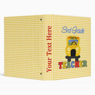 3rd Grade Teacher Gift Vinyl Binders