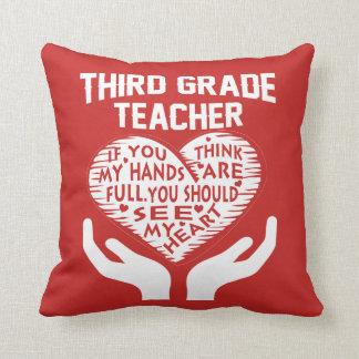 3rd Grade Teacher Throw Pillow