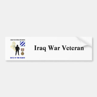 3rd Infantry Division Iraq War Vet Bumper Stickers