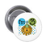 3rd Lion Birthday 2 Inch Round Button
