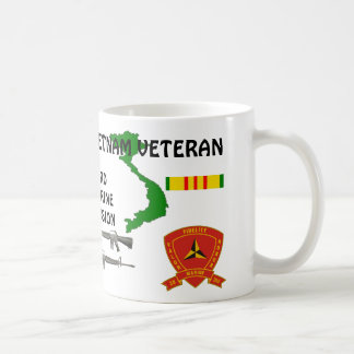 3rd Marine Ribbon Div. Vietnam Veteran Coffee Mugs