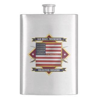 3rd Minnesota Volunteer Infantry Hip Flask