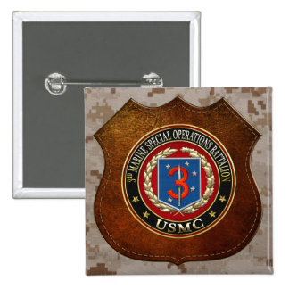 3rd MSOB [3D] 2 Inch Square Button