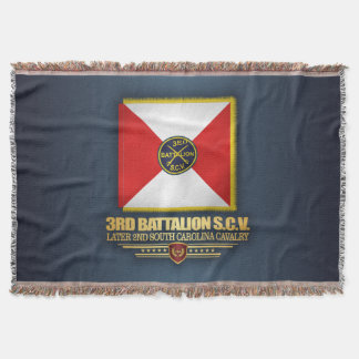 3rd SCV Cavalry Battalion Throw Blanket