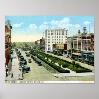 3rd St., Macon, Georgia 1920s Vintage Poster