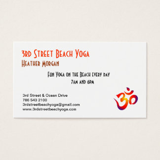 3rd Street Beach Yoga Business Card