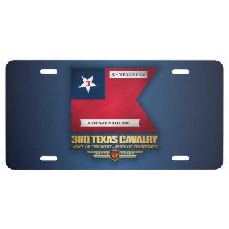 3rd Texas Cavalry License Plate