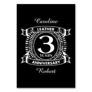 3rd wedding anniversary distressed crest card