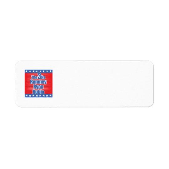 3Rs Return Address Label