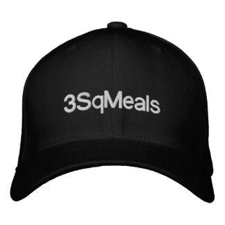 3sqmeals Basic Adjustable Cap Embroidered Hat