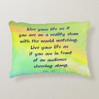 3Sqmeals Living your Life Pillow