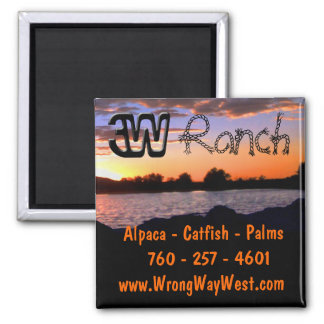 3W Ranch Square Magnet