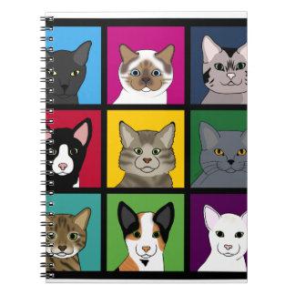 3x3 cats notebook