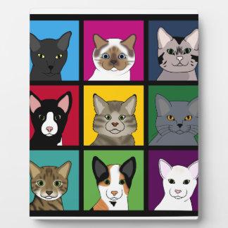 3x3 cats plaque