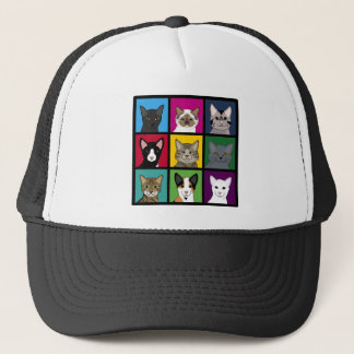 3x3 cats trucker hat