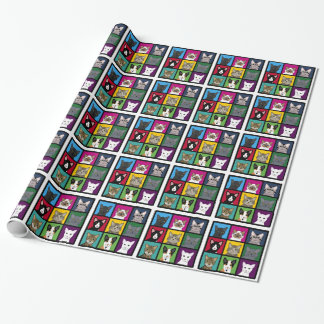 3x3 cats wrapping paper