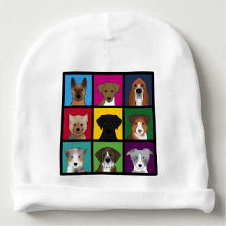 3x3 of dogs baby beanie