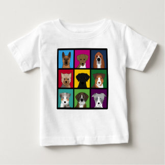 3x3 of dogs baby T-Shirt