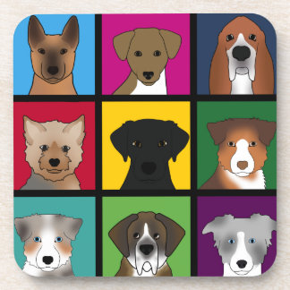 3x3 of dogs coaster