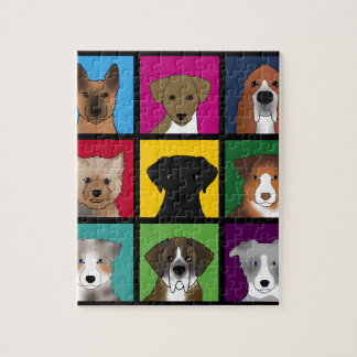 3x3 of dogs jigsaw puzzle