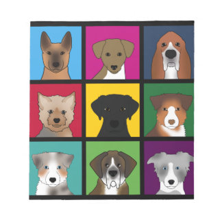 3x3 of dogs notepad