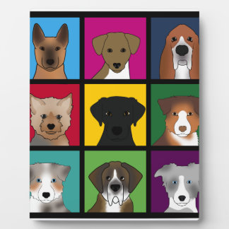 3x3 of dogs plaque