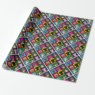 3x3 of dogs wrapping paper