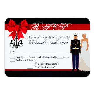 3x5 R.S.V.P. Reply Card Marine Hispanic Uniform