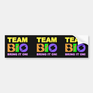 3x TEAM BIO CAR BUMPER STICKER