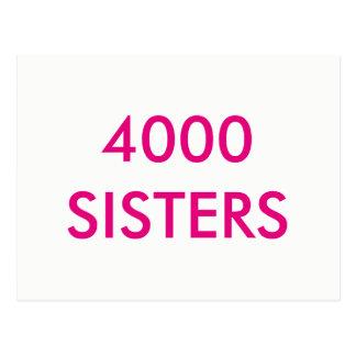4000 Sisters Postcard
